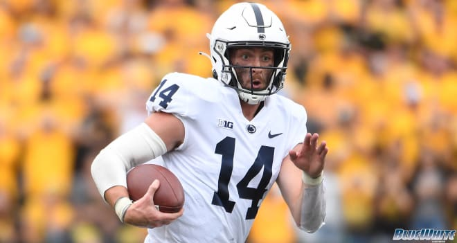 Penn State Nittany Lions quarterback Sean Clifford left the game against Iowa in the second quarter.