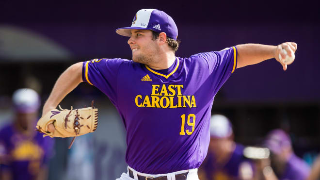 Alec Burleson is set to get the start on the mound for opening day when ECU hosts Radford on Friday.