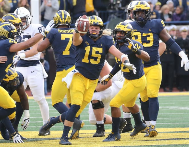 Chase Winovich played tight end and linebacker at Michigan before settling in as a defensive end.