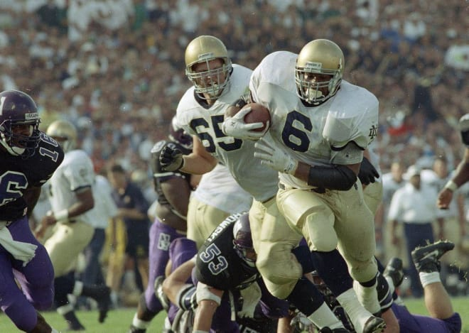 Notre Dame Fighting Irish football running back Jerome Bettis