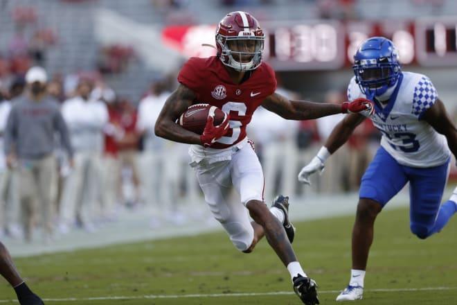 Alabama Crimson Tide receiver DeVonta Smith. Photo | SEC