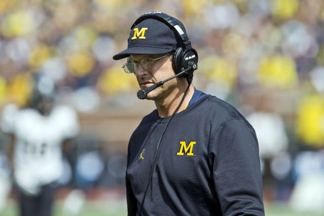 Michigan Wolverines football coach Jim Harbaugh has been advocating for fall football in the Big Ten.