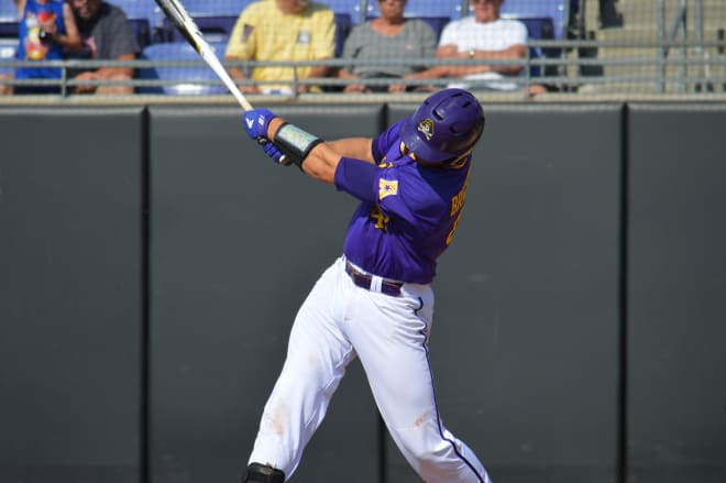 Two Spencer Brickhouse home runs in the third and fifth innings played a big part in ECU's 13-6 game two Saturday victory over Cincinnati.