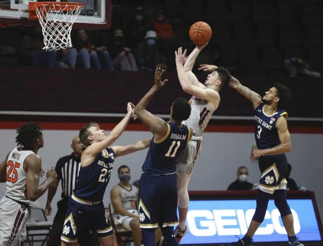 Notre Dame Fighting Irish men's basketball at Virginia Tech
