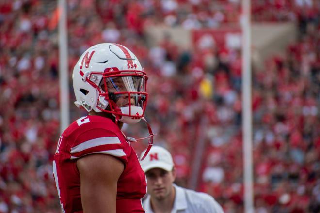 Nebraska Cornhuskers football junior quarterback Adrian Martinez's 71.5-percent completion rate last season was a school record for a single season.