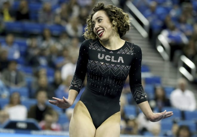 Katelyn Ohashi's floor routine generated over 115 million views on UCLA's YouTube page.
