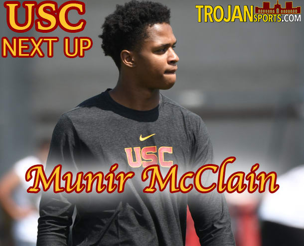 Munir McClain is one of four freshmen receivers who joined USC this summer.