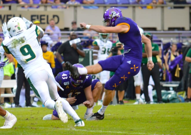 Jake Verity kept his field goal streak alive at 13 straight games and was named second team All-AAC on Wednesday.