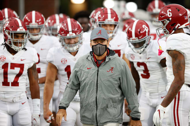 Alabama head coach Nick Saban has tested positive for COVID-19. Photo   Getty Images