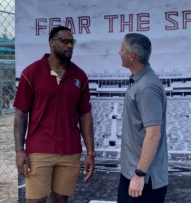 Norvell meets former FSU and NFL defensive end Markus White on Thursday.