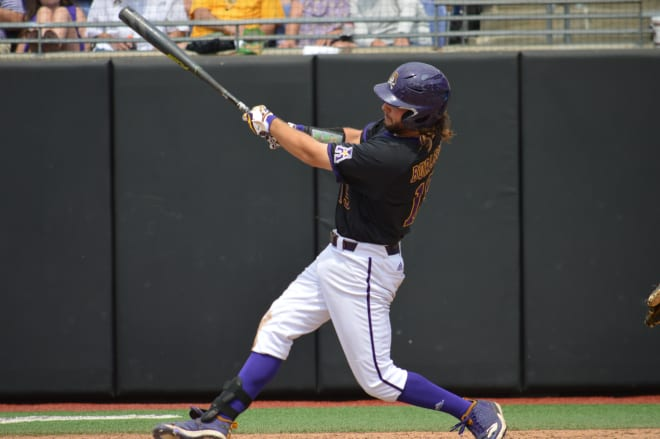 Alec Burleson and ECU easily get past Campbell Monday afternoon to advance to the title game Monday night.