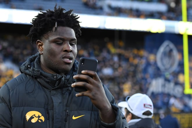 Josh Ogundele visited Iowa this past weekend and will take a trip to Cincinnati next.