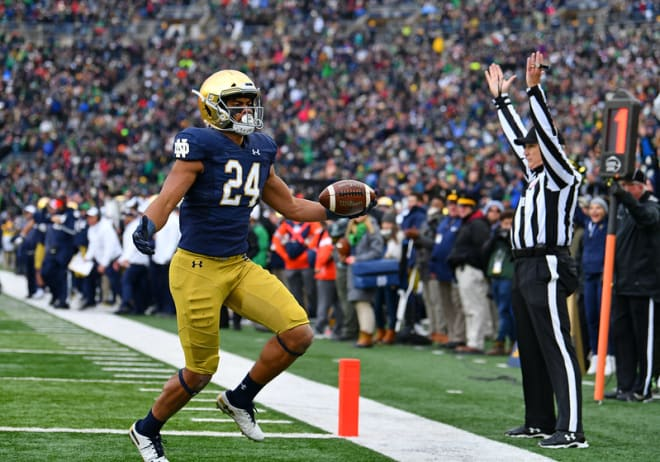 Tremble is headed to the NFL Draft after three years at Notre Dame and 35 career catches.