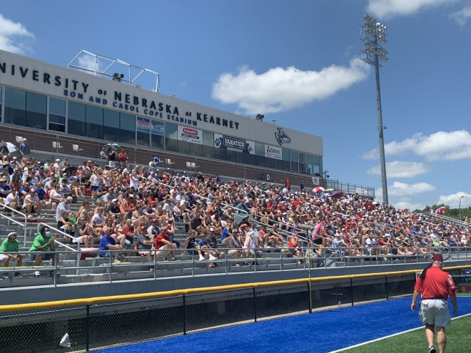 A crowd of 2,475 watched the 62nd annual Nebraska Shrine Bowl on Saturday in Kearney.