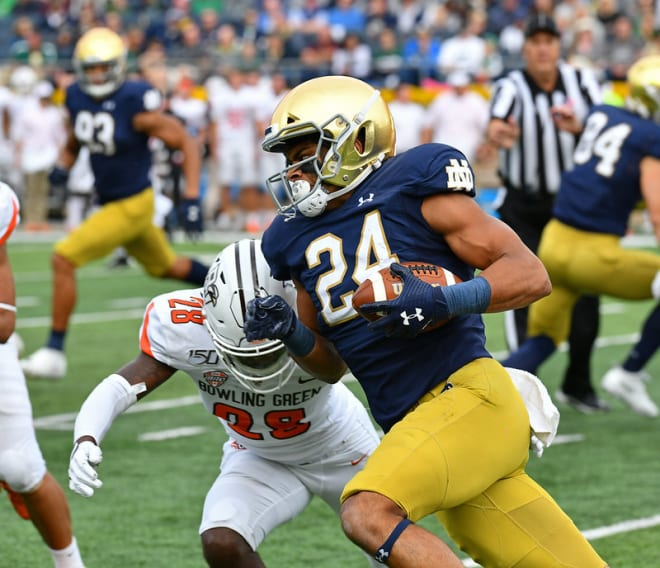 Notre Dame Fighting Irish football junior tight end Tommy Tremble