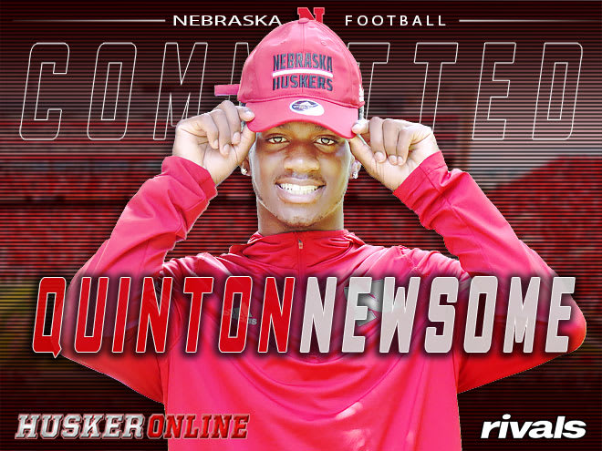 Nebraska landed a commitment from key defensive back target Quinton Newsome out of Georgia Monday.