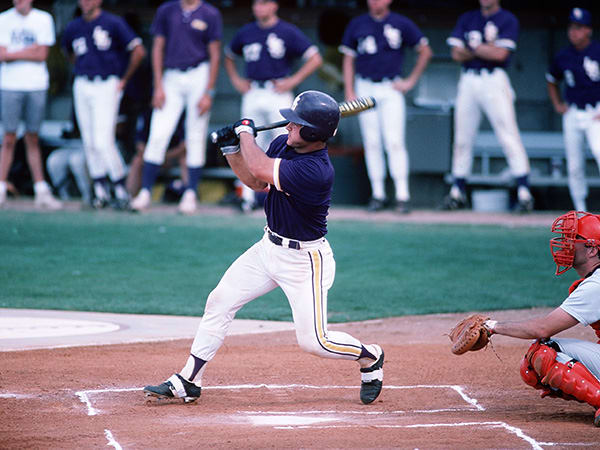 Mike Bianco playing for LSU in 1989