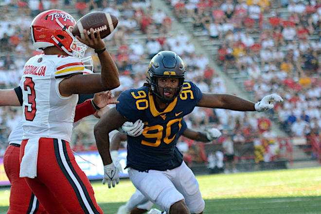 Mesidor served as an example for the West Virginia Mountaineers defense.
