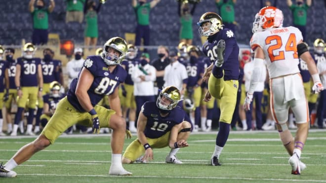 Notre Dame Fighting Irish football fifth-year senior kicker