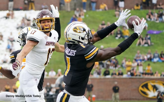 Missouri safety Jaylon Carlies has forced three turnovers in the team's first two games this season.
