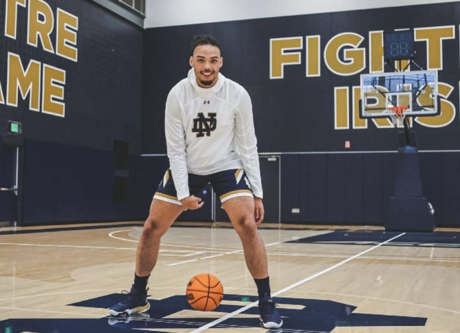 Notre Dame Fighting Irish men's basketball commitment Dominick Campbell