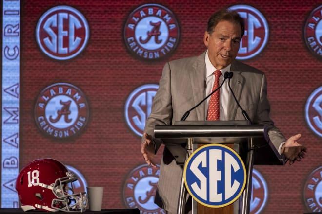 Alabama Crimson Tide head coach Nick Saban. Photo   USA Today