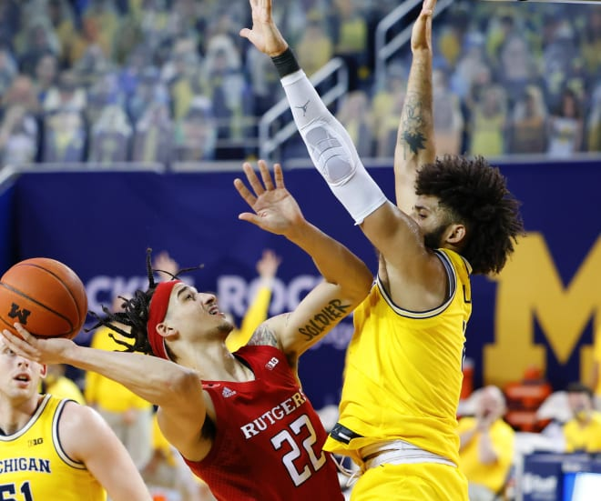 Michigan Wolverines basketball's Isaiah Livers struggled on offense but played smothering defense in U-M's win over Rutgers