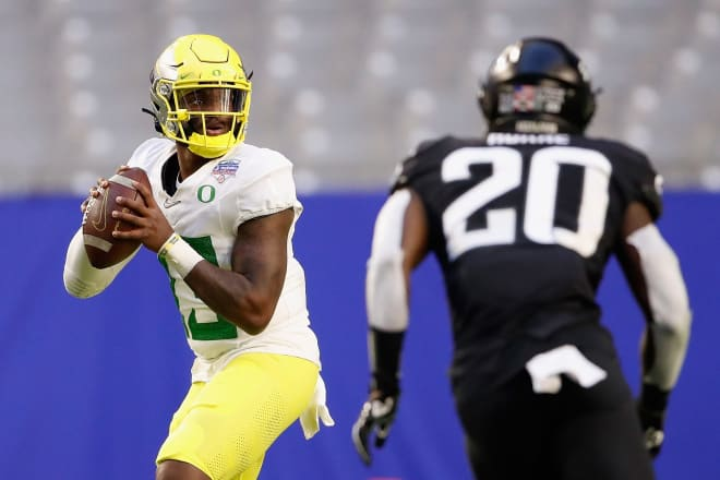 """Most preseason evaluations talk about Oregon's """"question mark"""" at quarterback, ignoring all the ways Anthony Brown has already provided an answer."""
