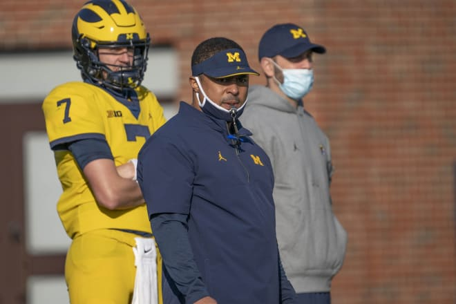 Michigan Wolverines football running backs coach Mike Hart is the program's all-time leading rusher.