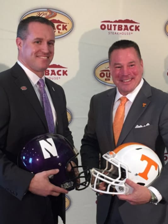 Friends Butch Jones and Pat Fitzgerald square off Friday