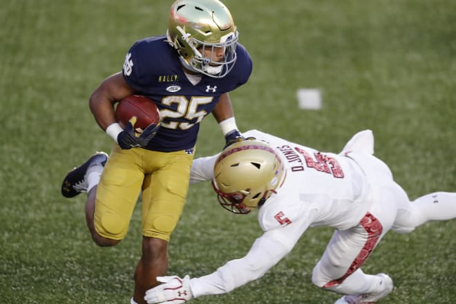 Notre Dame Fighting Irish football sophomore running back Chris Tyree