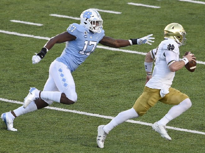Chris Collins' speed and athletic ability are attributes at the hybrid position.