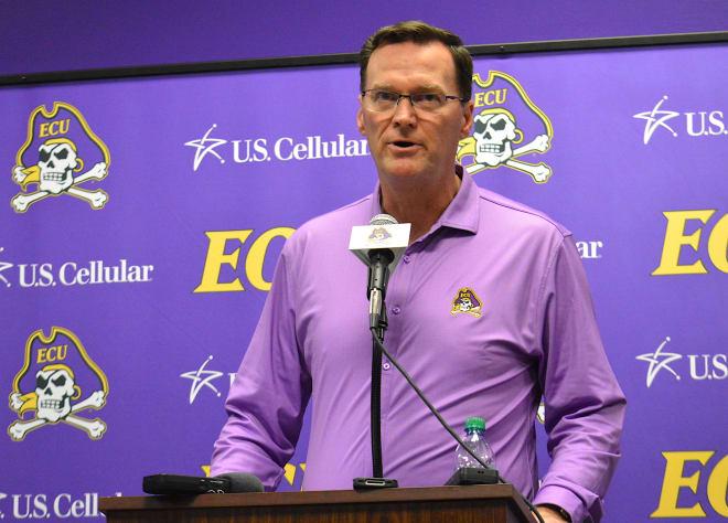 East Carolina director of athletics Jon Gilbert addressed the overall Corona virus situation on Friday.