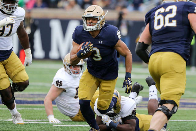 Notre Dame Fighting Irish football fifth-year senior wide receiver Avery Davis