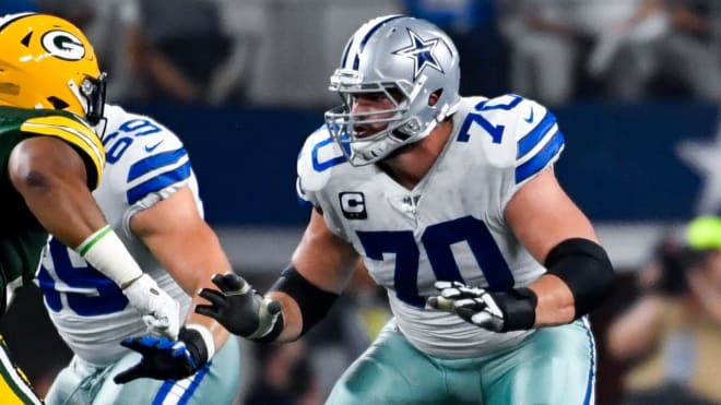 Former Notre Dame and current Dallas Cowboys offensive lineman Zack Martin