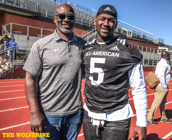 The bloodlines are strong for four-star defensive lineman Christopher Hinton with an NFL dad and a college basketball standout for a mom.