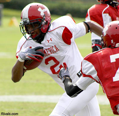 All-American WR Mike Davis, a former pupil of Coach Jones at Dallas Skyline in 2010.