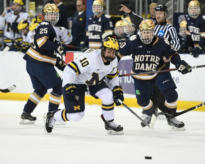 Junior forward Will Lockwood is one of four U-M players tied for the team lead with 10 goals this season.