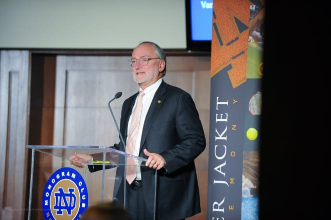 Notre Dame vice president and director of athletics Jack Swarbrick
