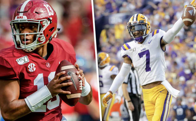 The Alabama Crimson Tide take on the LSU Tigers on November 9, 2019 from Bryant-Denny Stadium