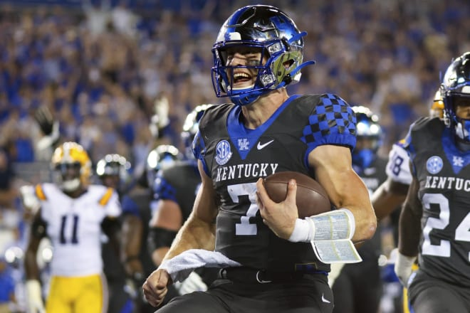 Former Penn State Nittany Lions football QB Will Levis is having a successful year with Kentucky.