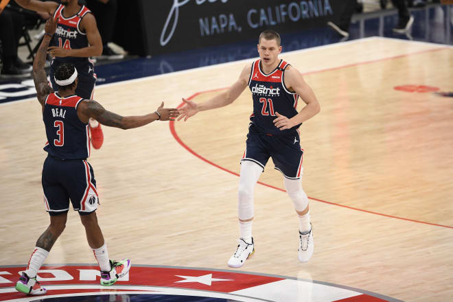Former Michigan Wolverines star Moe Wagner had a big game for the Washington Wizards in a win over the Brooklyn Nets.