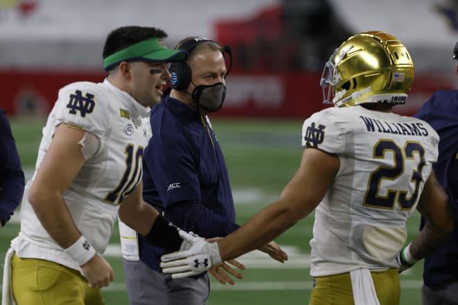 Notre Dame Fighting Irish football sophomore quarterback Drew Pyne