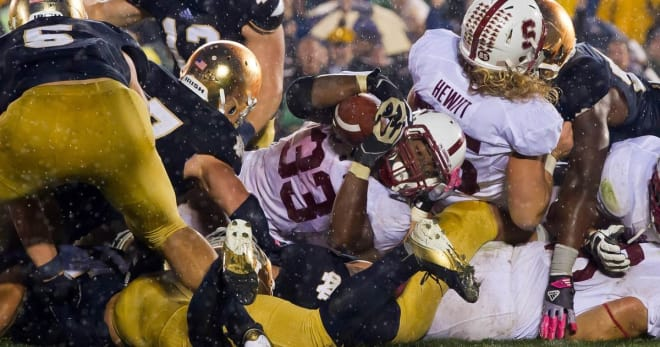 Starting with this classic goal-line stand in 2012, each of the last four Notre Dame-Stanford games have come down to the final series or play.