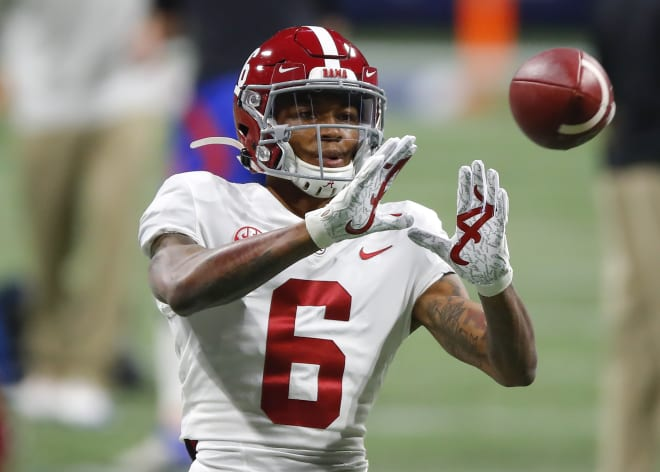 Alabama Crimson Tide receiver DeVonta Smith. Photo | Getty Images