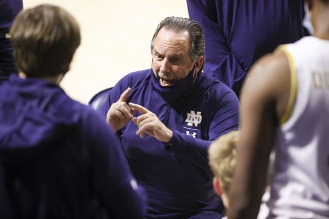 Mike Brey and Notre Dame have to pick themselves up from a rough loss.