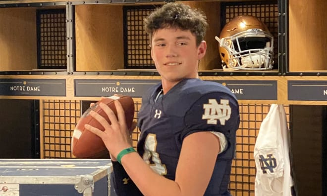 Medina (Ohio) High quarterback and Notre Dame Fighting Irish football recruiting target Drew Allar