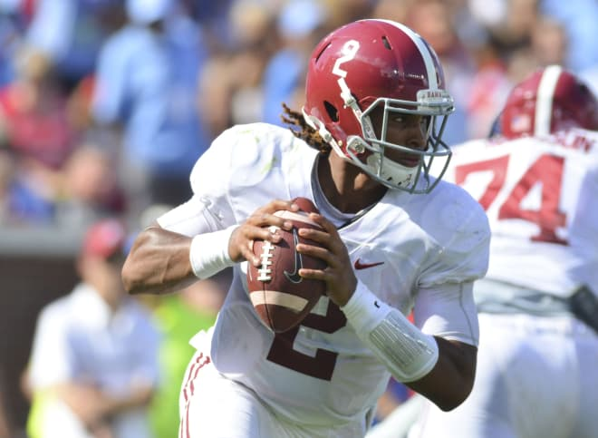 Jalen Hurts was one of four Alabama players named to the Walter Camp Award watch list. Photo | USA Today.