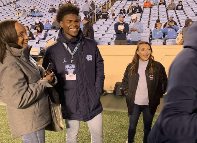 Trenton Simpson, a 4-star linebacker from Charlotte, tells THI how his OV at UNC went over the weekend.