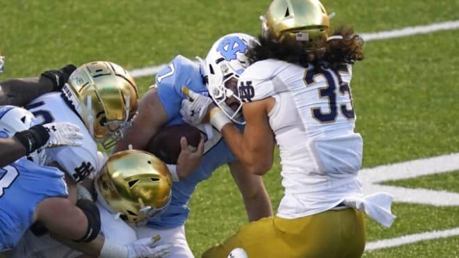 Notre Dame Fighting Irish football junior linebacker Marist Liufau